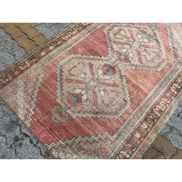 1960s Oushak Handmade Distressed Antique Floor Carpet For Sale - Image 5 of 11
