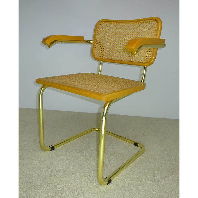 Marcel Breuer Cesca Brass Armchairs - a Pair For Sale In Los Angeles - Image 6 of 11