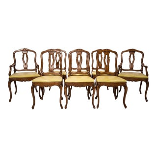 Antique European Queen Anne Dining Chairs - Set of 6