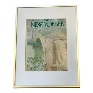 1979 New Yorker Cover Rowboat Central Park, Framed For Sale