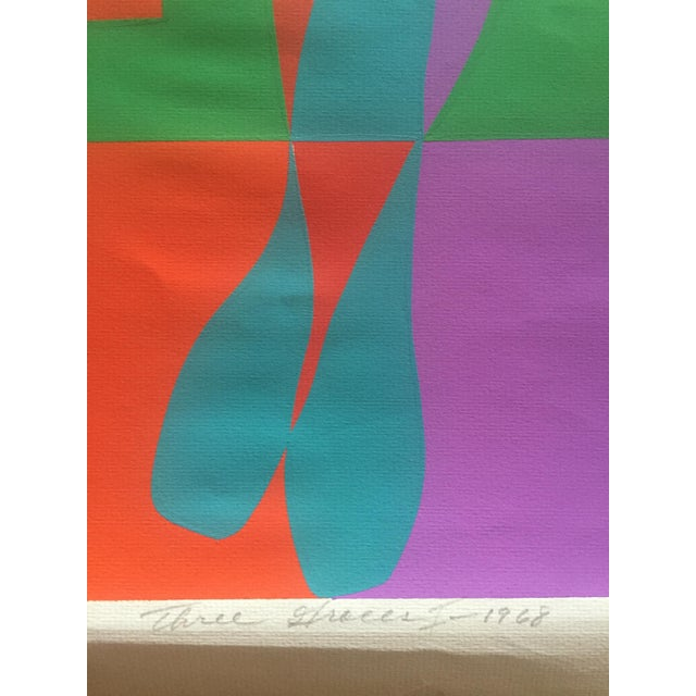"1968 Signed Roy Ahlgren Silkscreen ""Three Graces"" For Sale In New York - Image 6 of 7"