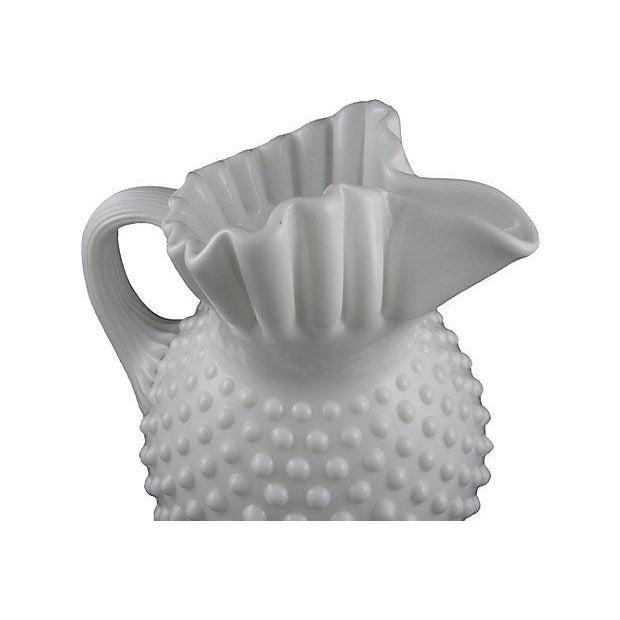 Fenton Hobnail Milk Glass Beverage Service - 5 - Image 4 of 6
