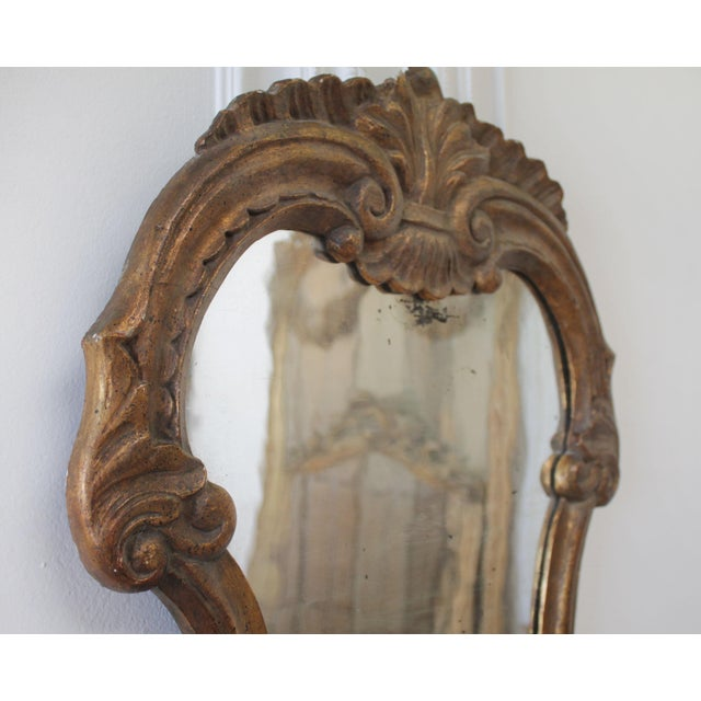 19th Century Italian Giltwood Mirror For Sale - Image 4 of 7