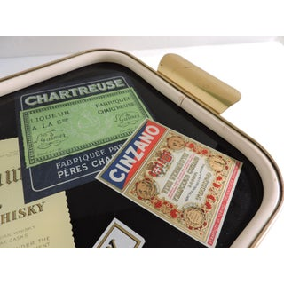 1960s Vintage Germany Whiskey Label Bar Tray Preview