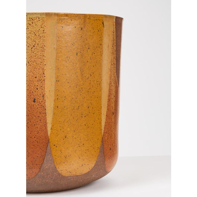 Malcolm Leland Lt-24 Flame-Glazed Planter for Architectural Pottery For Sale - Image 9 of 10