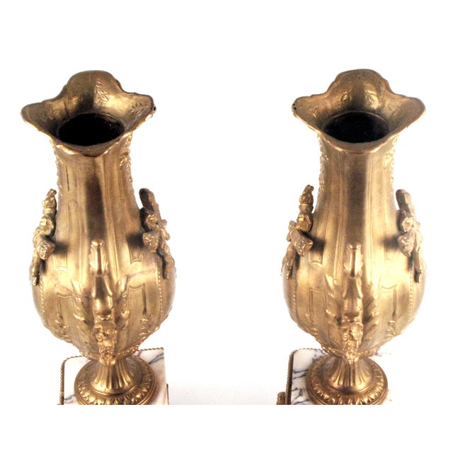 French Gold Gilt Urn Garniture Vases - A Pair - Image 6 of 9