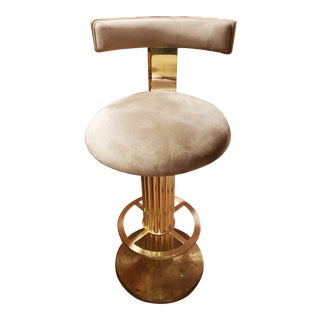 Designs for Leisure Brass Bar Stools For Sale