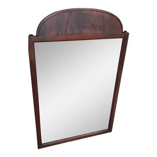 Vintage Wood Wall Mirror For Sale