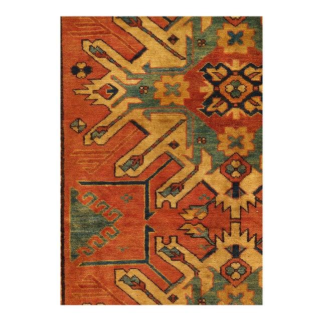 """Afghan Pasargad Afghan Kazak Lamb's Wool Rug - 4'6"""" X 6' For Sale - Image 3 of 5"""