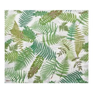 Sample - Schumacher X Clements Ribeiro Fernarium Wallpaper in Ivory & Leaf For Sale