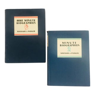 "1930's ""Minute Biographies"" First Edition Books - a Pair For Sale"