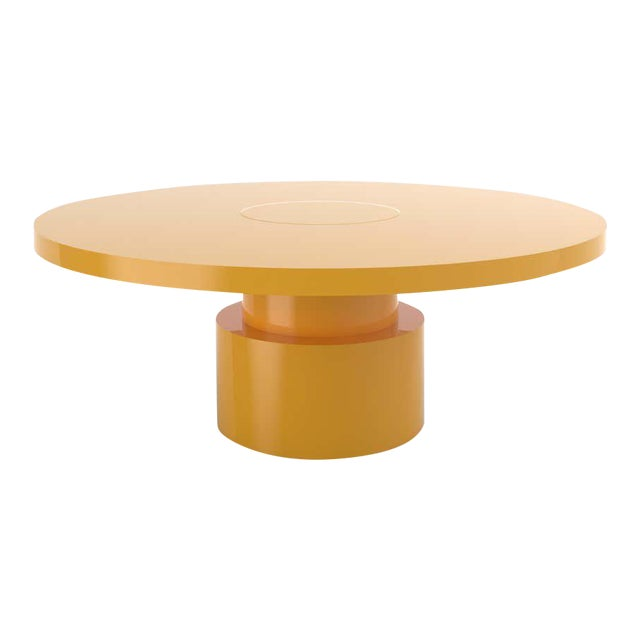 Contemporary 100C Coffee Table by Orphan Work, 2020, Yellow For Sale