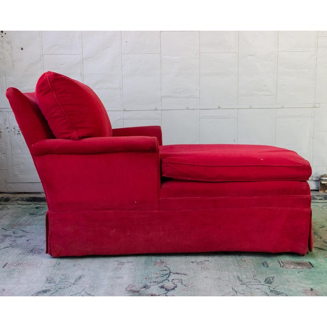 Hollywood Regency Small Ladie's Chaise Longue For Sale - Image 3 of 11