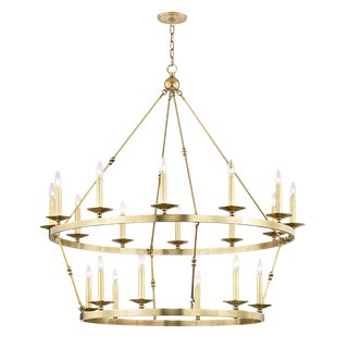 Allendale 20 Light Chandelier - Aged Brass For Sale