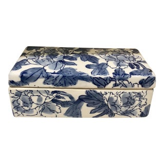 Blue & White Floral Porcelain Box