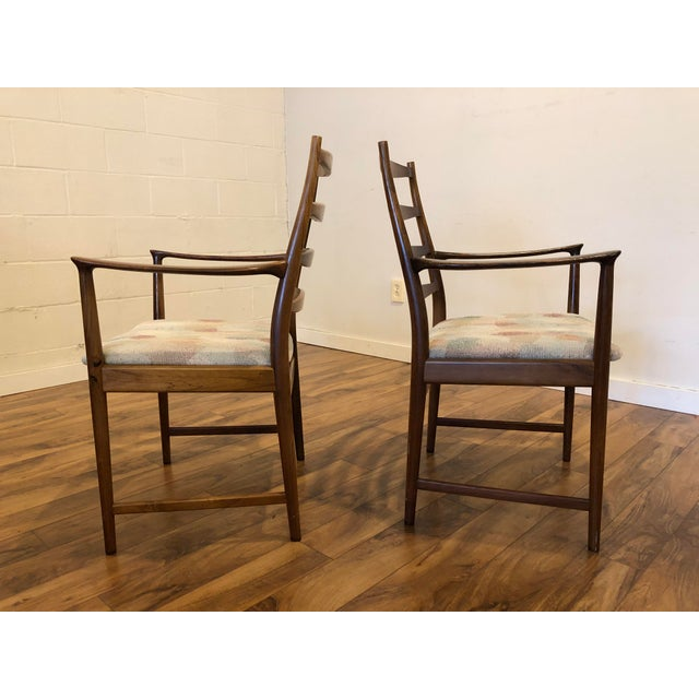 1960s Rosewood Mid Century Armchairs by Torbjorn Afdal for Vamo Sonderborg -A Pair For Sale - Image 5 of 13