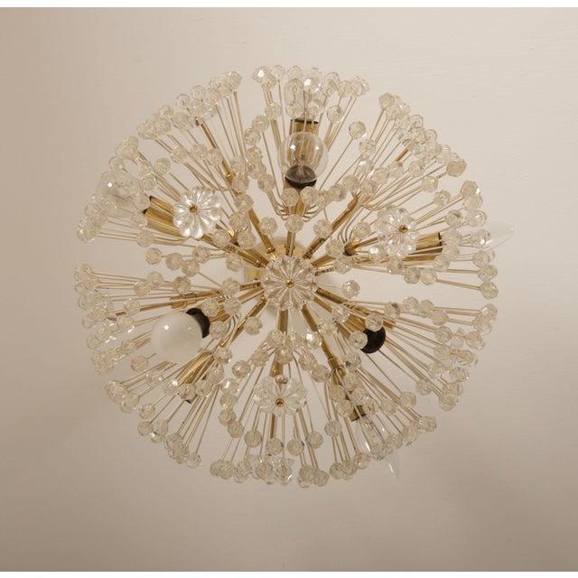 Gold Impressive Emil Stejnar Brass and Glass Sputnik Snowball Chandelier For Sale - Image 8 of 9