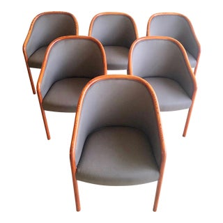 1970s Ward Bennett for Brickel Associates Dining Chairs- Set of 6 For Sale