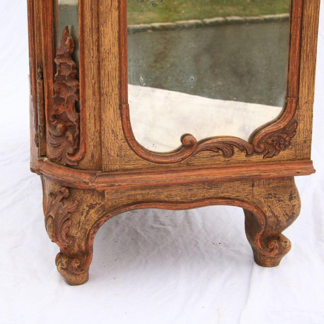 Louis XV Mirrored & Carved Oak Cabinet - Image 6 of 11