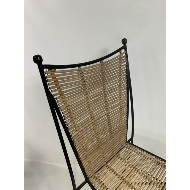 Tan Ficks & Reed Mid-Century Modern Bamboo & Rod Iron Dining Chairs - Set of 2 For Sale - Image 8 of 11