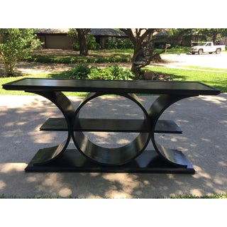 Asian Modern Vanguard Furniture Black Entertainment Console Table Preview