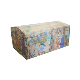 18th Century French Hand-Painted Wedding Box For Sale