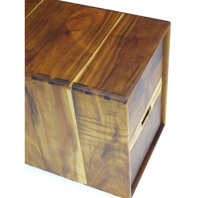 Mid-Century Modern Jim Sweeney Koa Filing Cabinets - a Pair For Sale - Image 3 of 11
