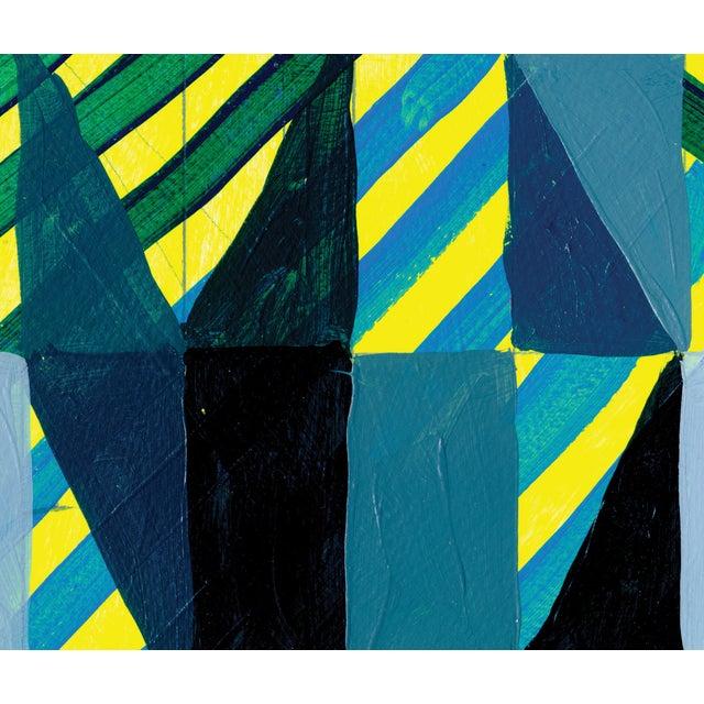 Ny15 #12 Original Geometric Painting - Image 3 of 5