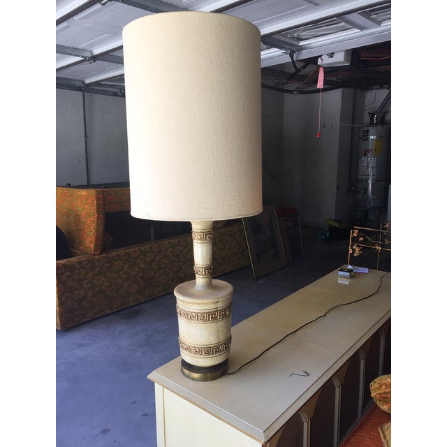 1960's Mid-Century Modern Ceramic Table Lamp With Shade - Image 2 of 4