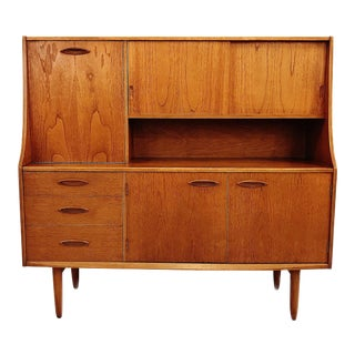 Vintage Danish Modern Teak Wall Unit