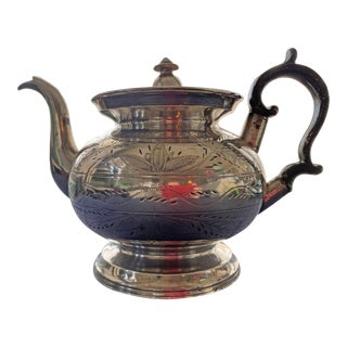 Early 19th Century Pewter Teapot For Sale