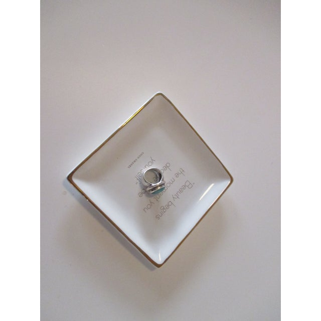 Trinket Tray Dish With a Quote From Coco Chanel For Sale - Image 4 of 5