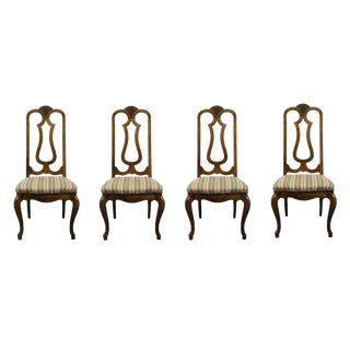 20th Century Mount Airy Furniture Country French Carved Shell Splat Back Side Chairs- Set of 4 For Sale