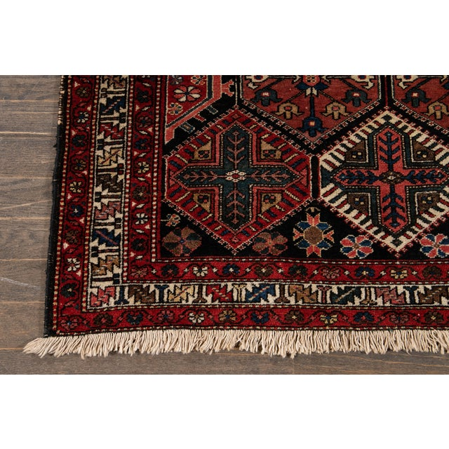 Textile Vintage Bakhtiari Wool Rug 4'4'' X 7'2'' For Sale - Image 7 of 12