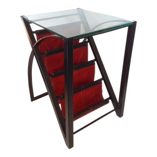 Magazine Rack End Table For Sale