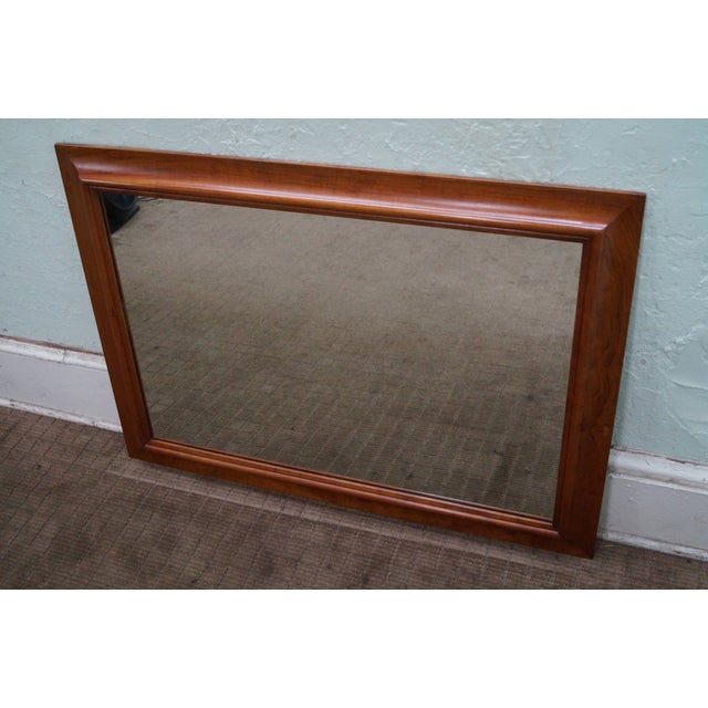 Store Item #: 8830 Stickley solid cherry frame rectangular mirror. Approx 40 years, America. High quality, American made,...
