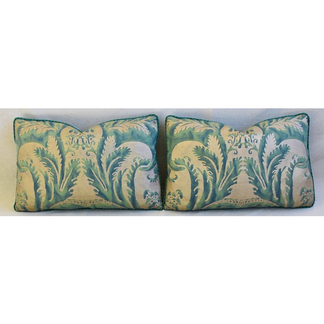 Italian Mariano Fortuny Feather/Down Accent Pillows - Pair For Sale In Los Angeles - Image 6 of 13