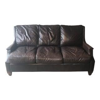Vintage Jackson Carter Brown Leather Sofa For Sale