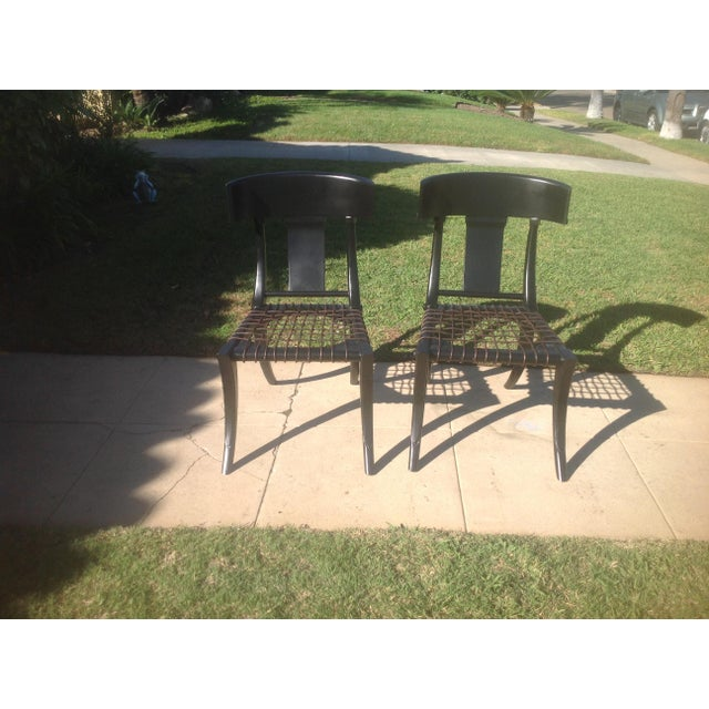 Klismos Ebony Chairs- A Pair For Sale In San Diego - Image 6 of 6