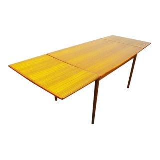 Mid Century Danish Modern Teak Expanding Slide Leaf Dining Table