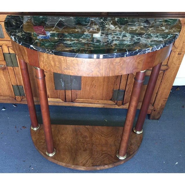 Brown Baker Furniture Demilune Table For Sale - Image 8 of 8