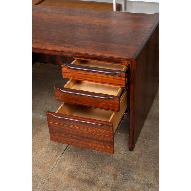 Wood Rosewood Executive Desk For Sale - Image 7 of 11