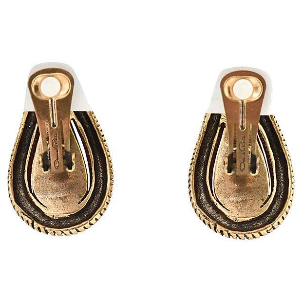 Oscar De La Renta Ruby Red Earrings For Sale - Image 4 of 8