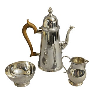 Sterling Silver 3-Piece Coffee Service by Kirk, C. 1930 For Sale