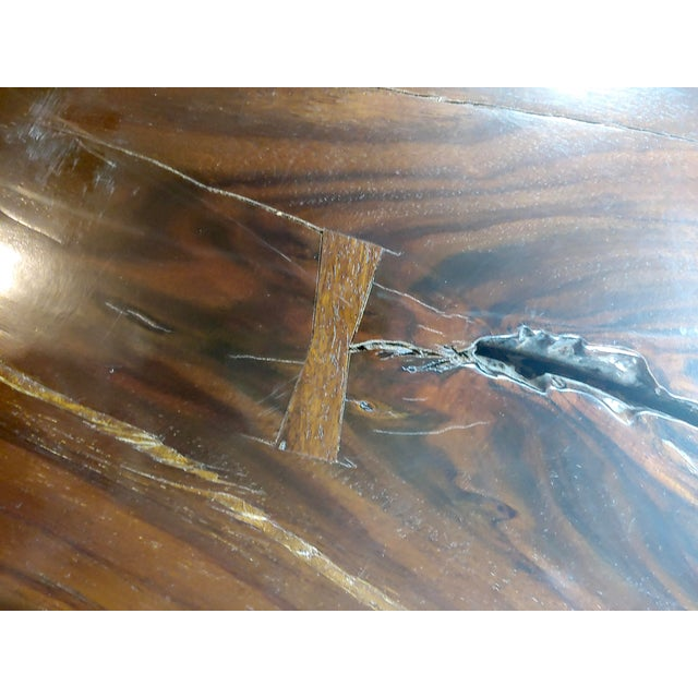 """African Leadwood Slab """"Monumental"""" Coffee Table For Sale - Image 11 of 13"""