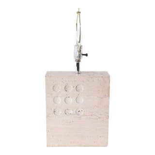 1960s Italian Travertine Table Lamp by Reggiani for Raymor For Sale