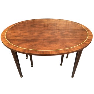 6349fa9732f14 Hollywood Regency Baker Furniture Dining Table