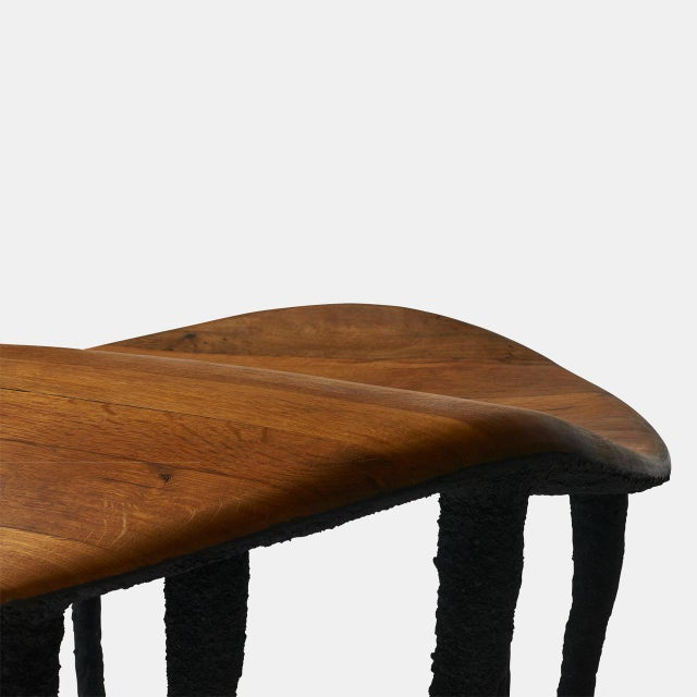 Bended Center Table in Oak by Valentin Loellmann For Sale In San Francisco - Image 6 of 7