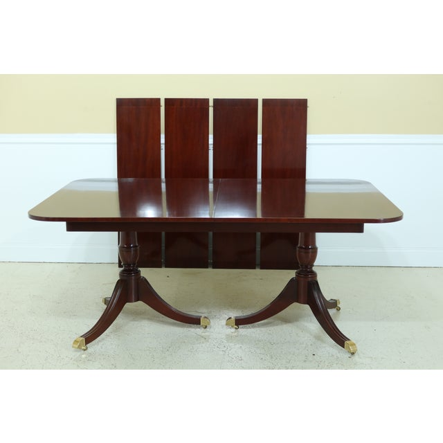 Kindel Duncan Phyfe Oxford Mahogany Dining Room Table For Sale - Image 13 of 13