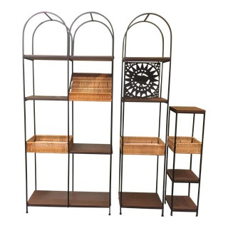 Arthur Umanoff 'Mayan Sun' Etagere Wall Unit For Sale